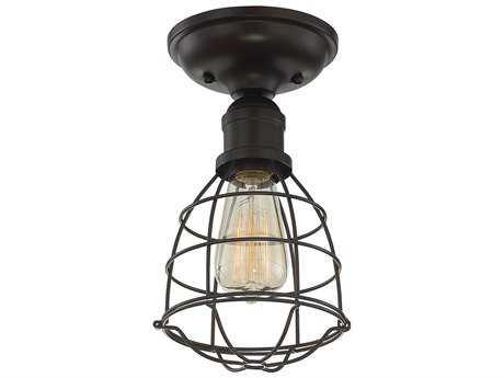 Savoy House Scout English Bronze 5.75'' Wide Semi-Flush Mount Ceiling Light SV64135113