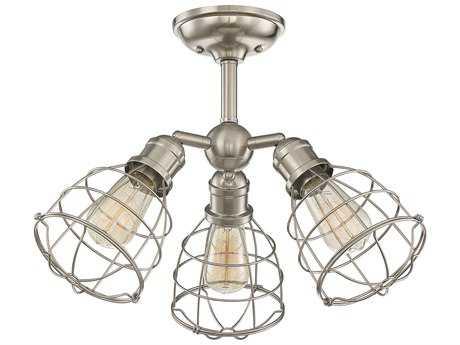 Savoy House Scout Satin Nickel Three-Light 23'' Wide Semi-Flush Mount Ceiling Light
