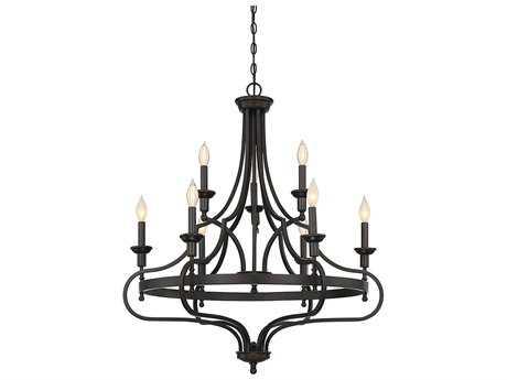 Savoy House Shields English Bronze Nine-Light 32'' Wide Chandelier