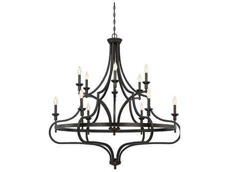 Savoy House Shields English Bronze 12-Light 48'' Wide Chandelier SV190841213