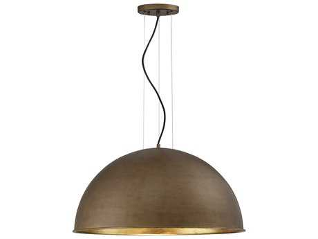 Savoy House Sommerton Rubbed Bronze & Gold Leaf Three-Light 24'' Wide Pendant Ceiling Light