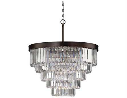 Savoy House Today's Classic Style Tierney Burnished Bronze Nine-Light 33'' Wide Chandelier SV19802928