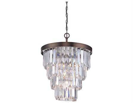 Savoy House Today's Classic Style Tierney Burnished Bronze Four-Light 19'' Wide Chandelier SV19805428