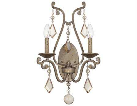 Savoy House Today's Classic Style Rothchild Oxidized Silver Two-Light Wall Sconce