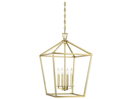 Savoy House Townsend Warm Brass 4-light 17'' Wide Pendant