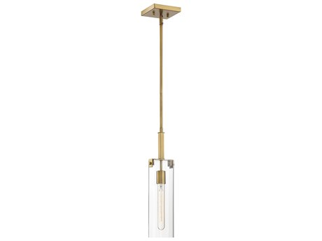 Savoy House Winfield Warm Brass 1-light 5'' Wide Glass Mini Pendants SV797701322
