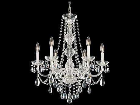 Schonbek Arlington Polished Silver Six-Light 24'' Wide Chandelier S51303