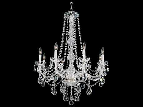Schonbek Arlington Polished Silver Eight-Light 28'' Wide Chandelier