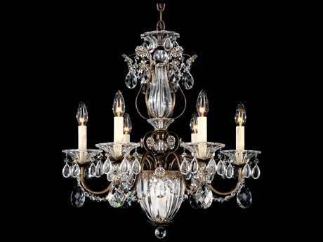 Schonbek Bagatelle Seven-Light 21'' Wide Chandelier S51246