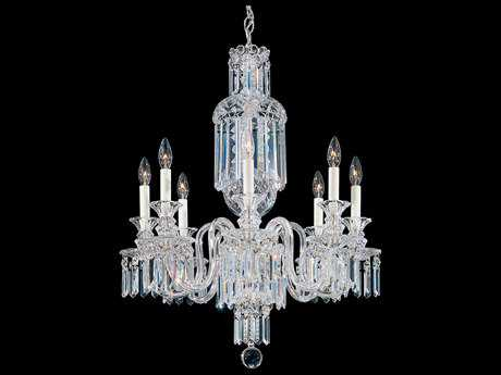 Schonbek Fairfax Polished Silver Eight-Light 24'' Wide Chandelier