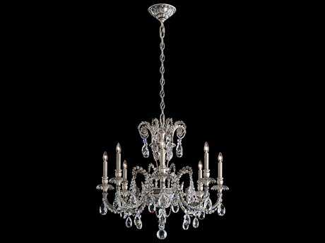 Schonbek Genzano Eight-Light 30'' Wide Chandelier