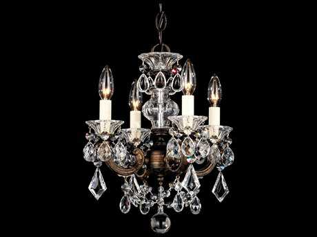 Schonbek La Scala Four-Light 12'' Wide Mini Chandelier S55004