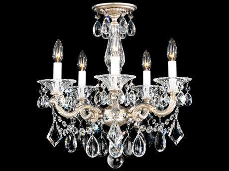 Schonbek La Scala Five-Light 18'' Wide Mini Chandelier S55345
