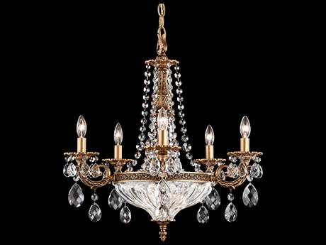 Schonbek Milano Seven-Light 21'' Wide Chandelier