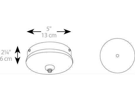 Schonbek QMP-M1RN-JT-BN Round Monopoint Metal Canopy - Brushed Nickel