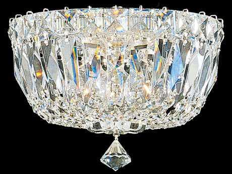 Schonbek Petit Crystal Deluxe Three-Light Flush Mount Light S55890