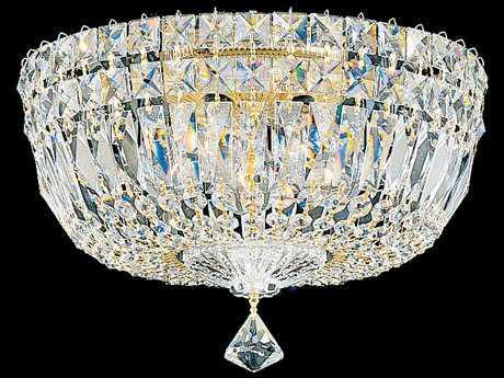 Schonbek Petit Crystal Deluxe Five-Light Flush Mount Light S55892