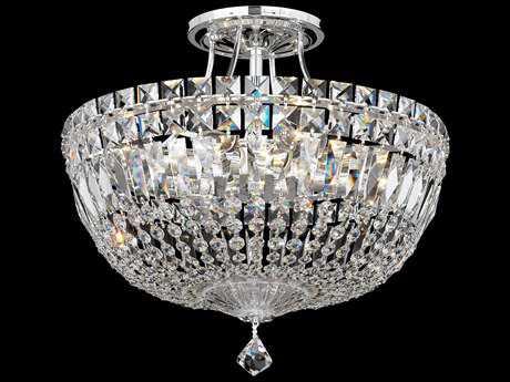 Schonbek Petit Crystal Deluxe Eight-Light Semi-Flush Mount Light S55902