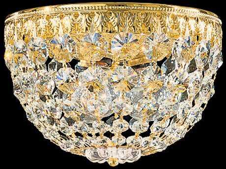 Schonbek Petit Crystal Three-Light Flush Mount Light S51558