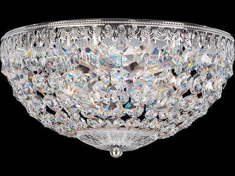 Schonbek Petit Crystal Four-Light Flush Mount Light S51560