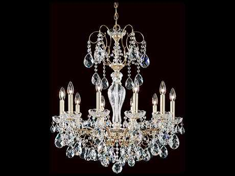 Schonbek Sonatina Ten-Light 25'' Wide Chandelier