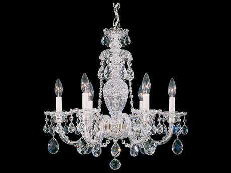 Schonbek Sterling Six-Light 21'' Wide Chandelier