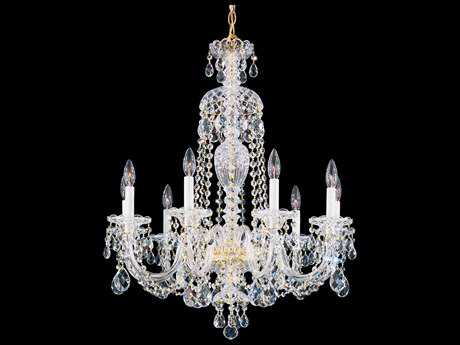 Schonbek Sterling Nine-Light 27'' Wide Chandelier