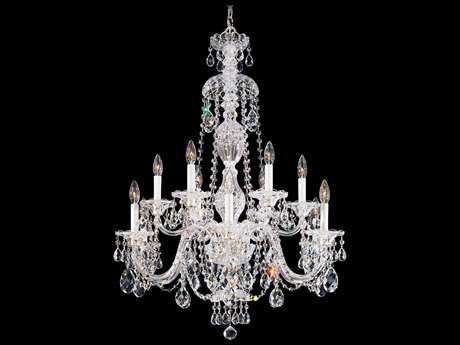 Schonbek Sterling 12-Light 29'' Wide Chandelier