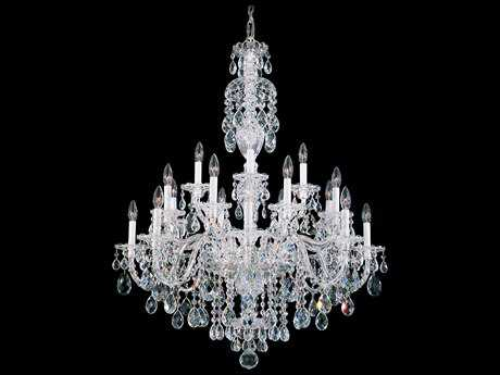 Schonbek Sterling 20-Light 34'' Wide Grand Chandelier