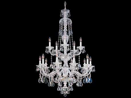 Schonbek Sterling 15-Light 32'' Wide Grand Chandelier