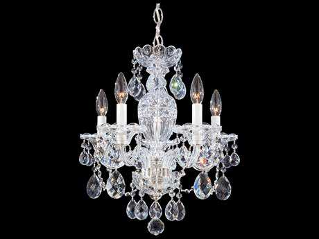 Schonbek Sterling Five-Light 16'' Wide Mini Chandelier