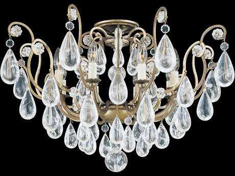 Schonbek Versailles Rock Crystal Eight-Light Semi-Flush Mount Light S52485