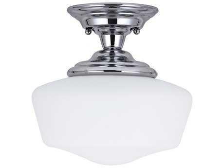 Sea Gull Lighting Academy Chrome 11.5'' Wide Semi-Flush Mount Light SGL7743605