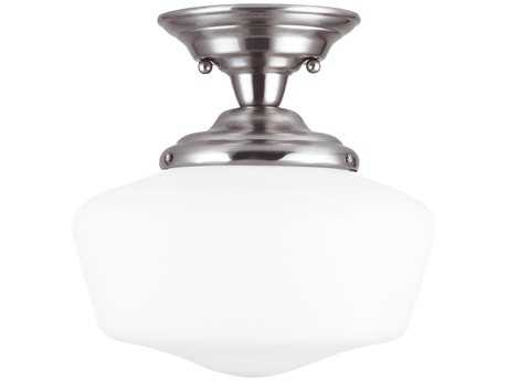 Sea Gull Lighting Academy Brushed Nickel 11.5'' Wide Semi-Flush Mount Light SGL77436962