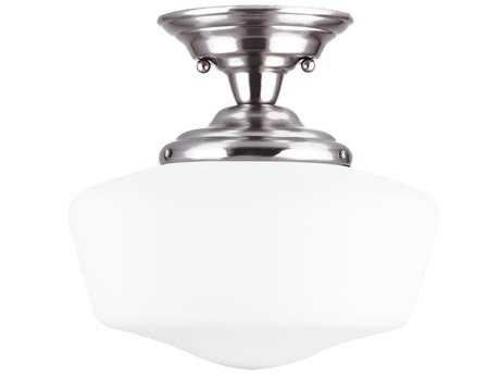 Sea Gull Lighting Academy Brushed Nickel 13'' Wide Semi-Flush Mount Light SGL77437962