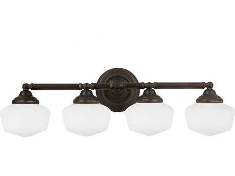 Sea Gull Lighting Academy Heirloom Bronze Four-Light Vanity Light