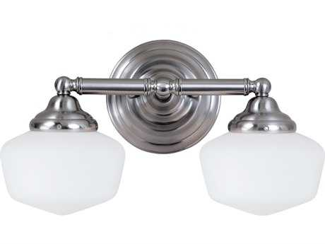 Sea Gull Lighting Academy Brushed Nickel Two-Light Wall Sconce