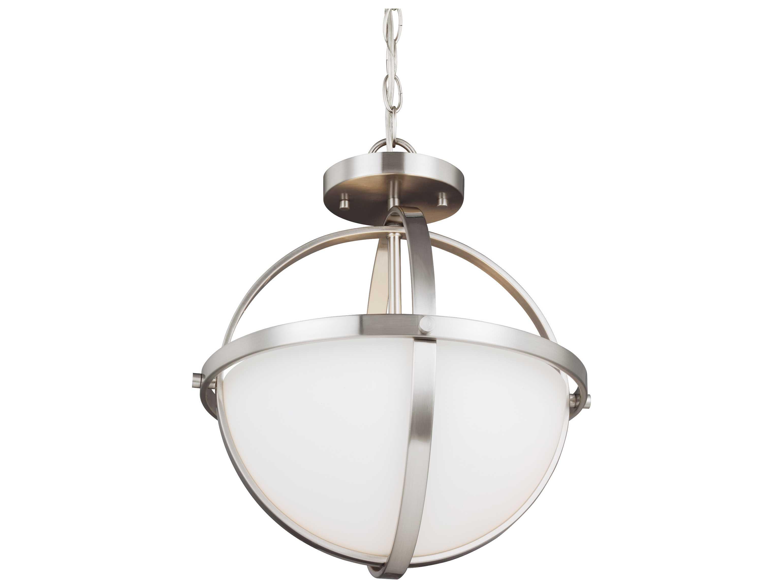 Sea Gull Lighting 44236 962 2 Light Brushed Nickel: Sea Gull Lighting Alturas Brushed Nickel Two-Light 16.38