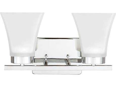 Sea Gull Lighting Bayfield Chrome Two-Light Wall Sconce