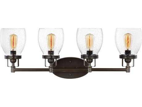 Sea Gull Lighting Belton Heirloom Bronze Four-Light 28.75'' Wide Vanity Light with Clear Seeded Glass SGL4414504782