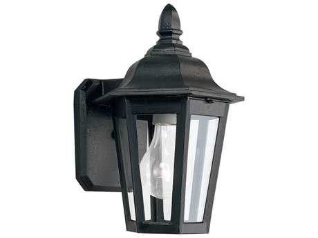 Sea Gull Lighting Brentwood Black Outdoor Wall Light SGL882212