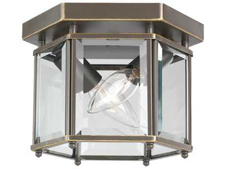 Sea Gull Lighting Bretton Heirloom Bronze Two-Light 8'' Wide Outdoor Ceiling Light SGL7647782
