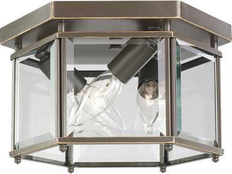 Sea Gull Lighting Bretton Heirloom Bronze Three-Light 10'' Wide Outdoor Ceiling Light