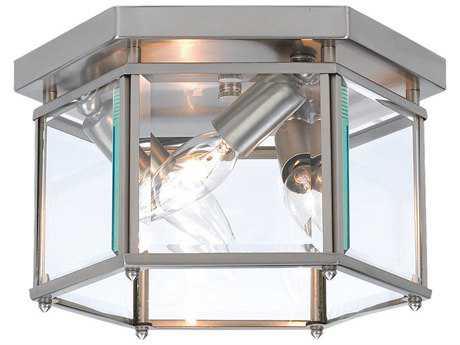 Sea Gull Lighting Bretton Brushed Nickel 3 Glass Outdoor Ceiling Light