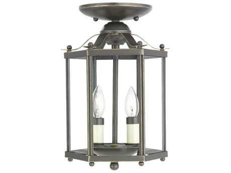 Sea Gull Lighting Bretton Heirloom Bronze Two-Light 7.25'' Wide Convertible Foyer Semi-Flush Mount Light SGL5232782