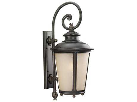 Sea Gull Lighting Cape May Burled Iron Outdoor Wall Light SGL88243780