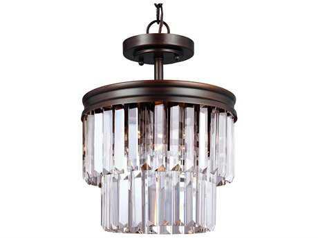 Sea Gull Lighting Carondelet Burnt Sienna Two-Light 10.63'' Wide Convertible Pendant  & Semi-Flush Mount Light SGL7714002710