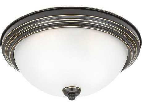 Sea Gull Lighting Ceiling Heirloom Bronze 10.5'' Wide Flush Mount Light SGL77063782