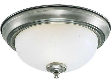 Sea Gull Lighting Ceiling Brushed Nickel 10.5'' Wide Flush Mount Light SGL77063962