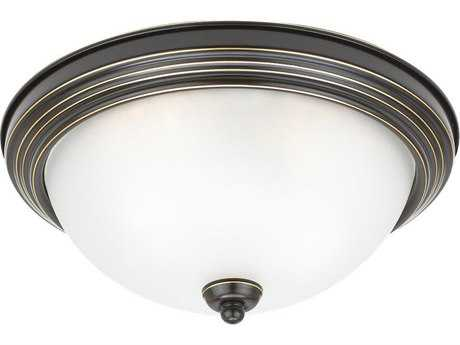 Sea Gull Lighting Ceiling Heirloom Bronze Two-Light 12.5'' Wide Flush Mount Light SGL77064782
